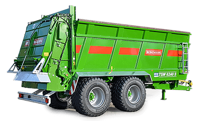 link to muck spreader page Bergmann tandem axle spreader illustration