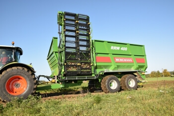 Sugar beet chaser and Claas tractor