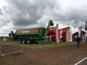 Cereals stand 2016 UK bergmann grain chaser and krampe trailers