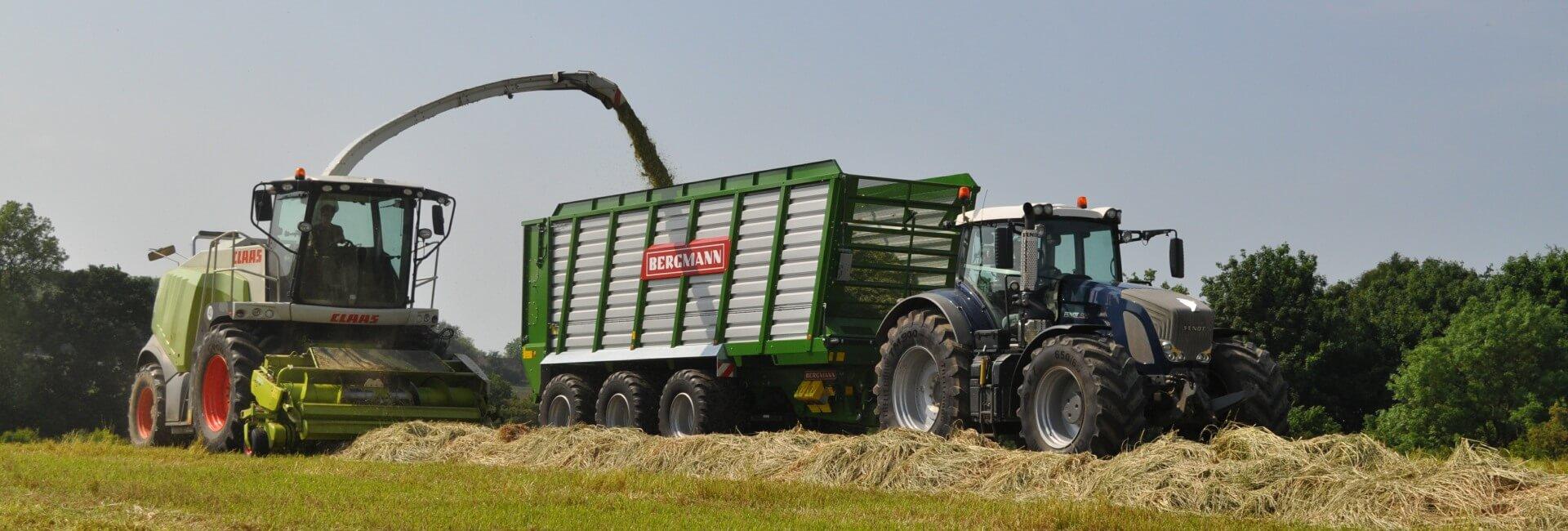 Bergmann silage trailer HTW50 grass silage UK