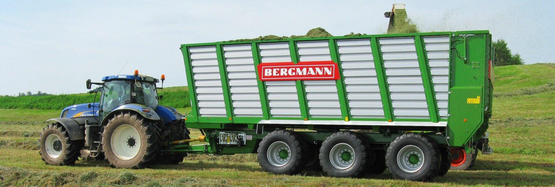 Bergmann HTW silage trailer grass harvest silage