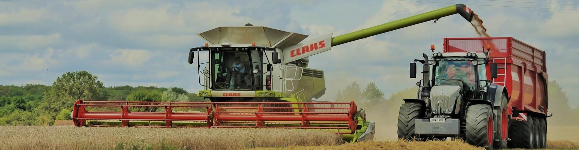 Claas combine krampe bandit trailer harvest