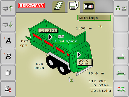 ISOBUS weigh cell spreader