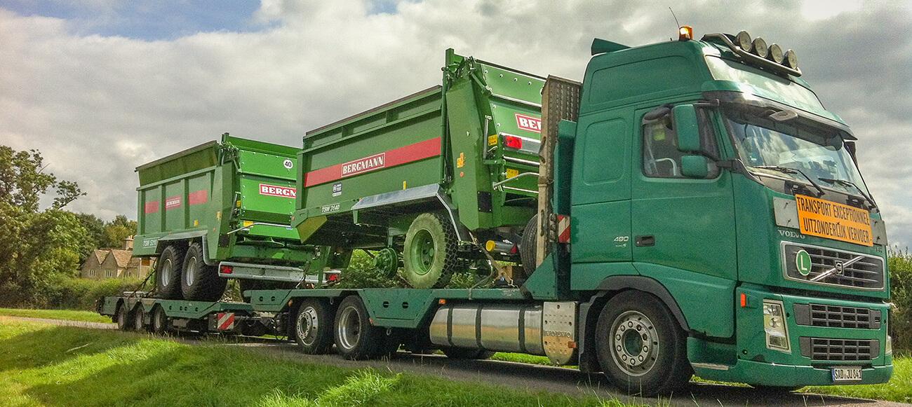 Schwandner delivering bergmann spreaders in UK