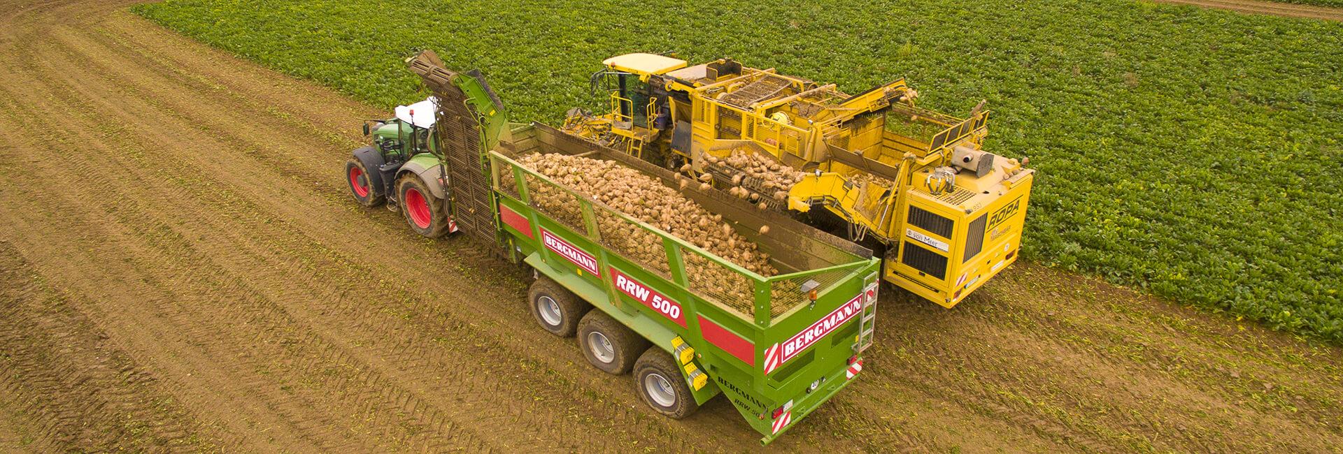 Beet overloading trailer