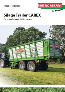 Forage Wagon Bergmann Brochure Carex