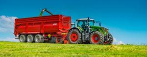 Krampe bandit 980 trailer with fendt tractor silage harvest