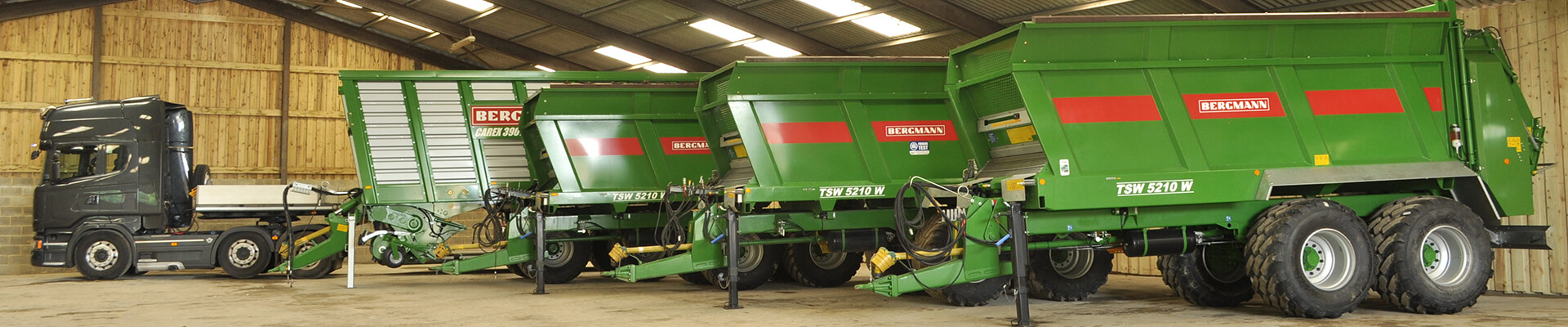Bergmann machinery in building spreaders and truck