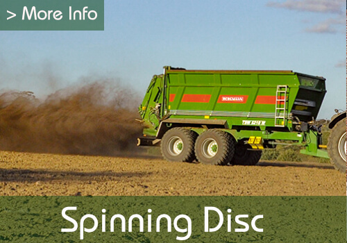 muck spreader with spinning disc link to more information