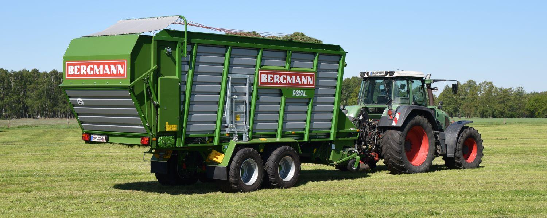 bergmann royal silage loader with fendt tractor silage harvest