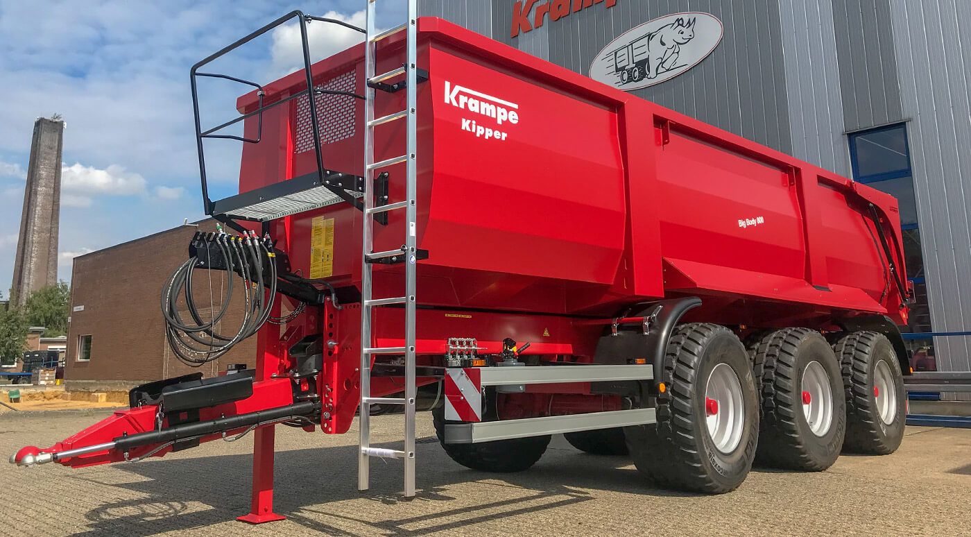 tipping trailer big body design features
