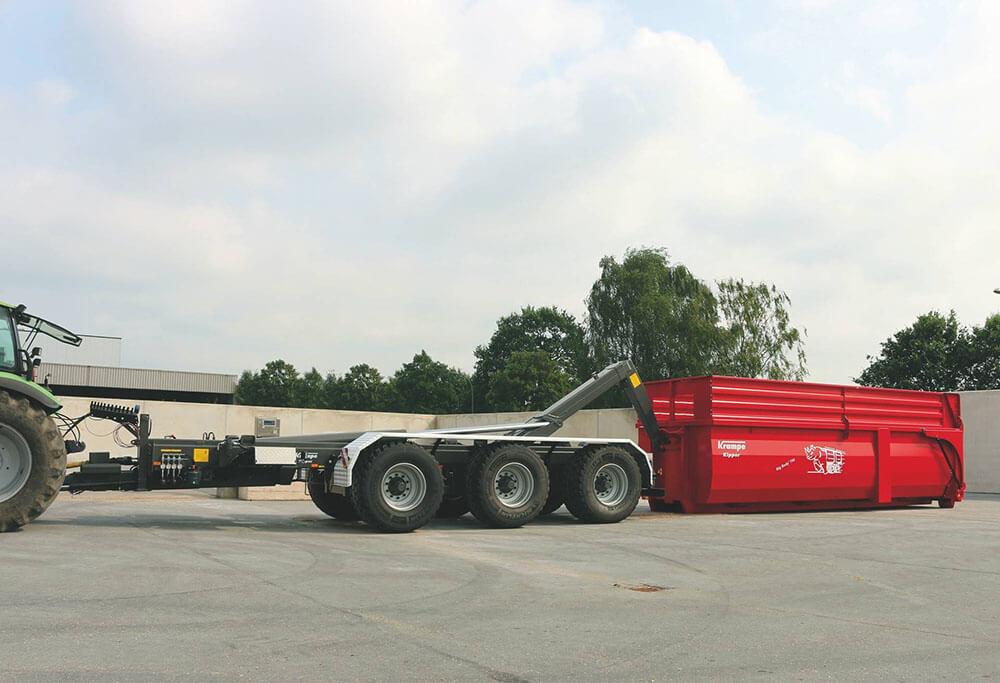 triaxle hooklifft loading bin big body
