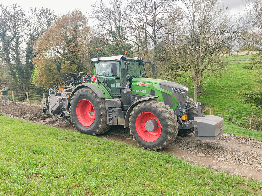 FAE road crusher stabiliser with Fendt 942 tractor
